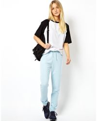 ASOS - Blue Lightweight Sweatpants in Slim Fit - Lyst