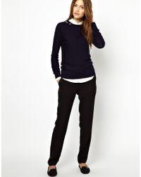 ASOS - Black Sonia By Sonia Rykiel Lambswool Sweater with Jewel Stone Embellishment - Lyst