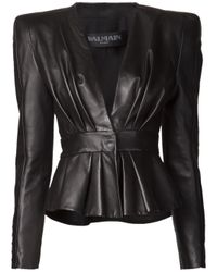 Balmain | Black Structured Blazer | Lyst
