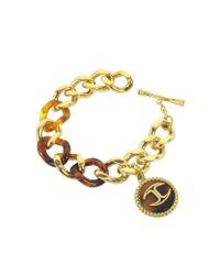Just Cavalli - Gray Nature Golden Stainless Steel Women's Bracelet - Lyst