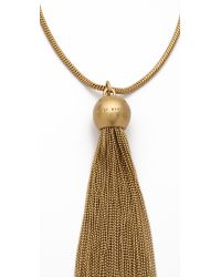 Marc By Marc Jacobs | Metallic Big Tassel Necklace | Lyst