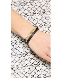 Marc By Marc Jacobs - Metallic Triple Wrap Leather Chain Bracelet - Lyst