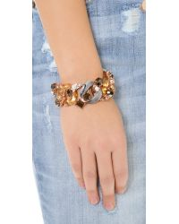 Marc By Marc Jacobs - Gray Embellished Exploded Katie Bracelet - Lyst