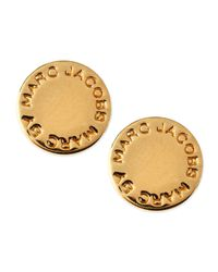 Marc By Marc Jacobs | Yellow Logo Disc Stud Earrings | Lyst