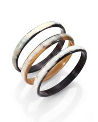 Nest | Blue Natural Horn Three-bangle Bracelet Set | Lyst