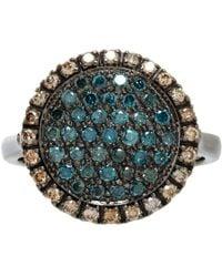 Roberto Marroni - Pave Diamond White Gold Threeface Ring - Lyst