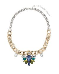 TOPSHOP - Blue Flower Rhinestone Chain - Lyst