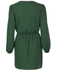 TOPSHOP - Green Chiffon Wrap Dress By Love - Lyst