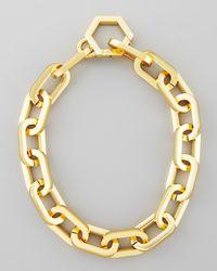 Tory Burch | Metallic Heidi Gold Plate Chain Necklace | Lyst