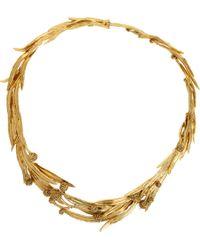 Aurelie Bidermann | Yellow Gold Surfing Mimosa Collar | Lyst