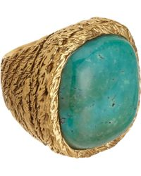 Aurelie Bidermann | Blue Turquoise Miki Ring | Lyst
