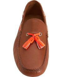 Barneys New York - Brown Fluorescent Tassel Driver for Men - Lyst
