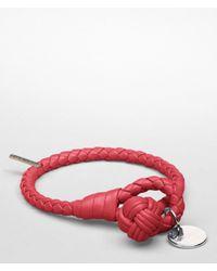 Bottega Veneta - Red Fraise Intrecciato Nappa Bracelet - Lyst