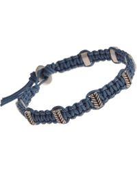 Catherine Zadeh - Blue Macrame Cord Bracelet for Men - Lyst