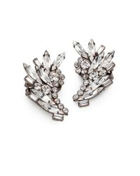 DANNIJO | Metallic Swarovski Crystal Cluster Clipon Earrings | Lyst