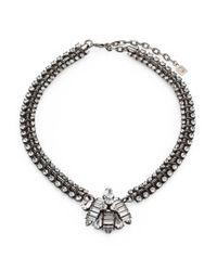 DANNIJO - Metallic Crystal Snake Chain Necklace - Lyst