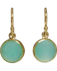 Finn | Green Chrysoprase Cabochon Earrings | Lyst