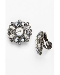 Givenchy | Gray Cluster Clip Earrings | Lyst