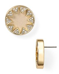 House of Harlow 1960 | Natural Pave Sunburst Earrings | Lyst