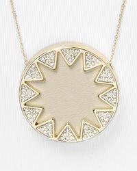 House of Harlow 1960 - Natural Pave Sunburst Pendant Necklace 26 - Lyst