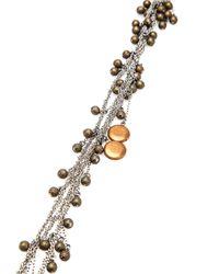 Jean-Francois Mimilla - Metallic Bronze Ball Chain Necklace - Lyst