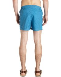 Petronius - Blue Aztec Print Swim Trunks for Men - Lyst