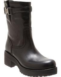 Prada | Black Buckled Strap Ankle Boot | Lyst