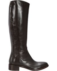 Rocco P | Brown Back Zip Riding Boot | Lyst