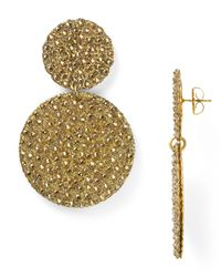 Roni Blanshay | Metallic Circular Button Drop Earrings | Lyst