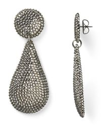 Roni Blanshay | Metallic Pave Teardrop Earrings | Lyst