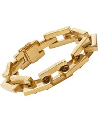 Saint Laurent | Metallic Babylone Art Deco Bracelet | Lyst
