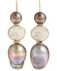 Sandra Dini | Metallic Pearl Shell Earrings | Lyst