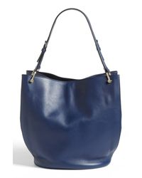 Tod's | Blue Borse Secchiello Medio Leather Tote | Lyst