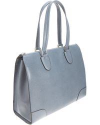 Valextra - Blue Babila Bag - Lyst