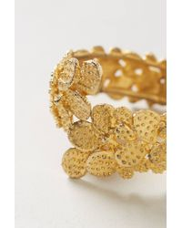 Anthropologie - Metallic Vintage Golden Cactus Bracelet - Lyst