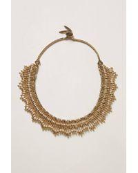 Anthropologie - Metallic Vintage Monet Collar Necklace - Lyst