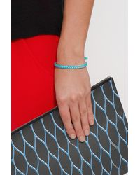 Aurelie Bidermann - Blue Bangle W Cotton Braid - Lyst