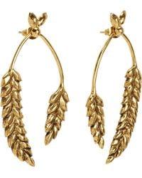 Aurelie Bidermann | Metallic Gold Wheat Pendant Earrings | Lyst