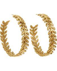 Aurelie Bidermann | Yellow Gold Lunada Bay Hoop Earrings | Lyst