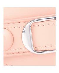 Balenciaga - Pink Classic Matte Stud Leather Bracelet - Lyst