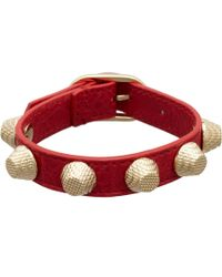 Balenciaga - Red Arena Giant All Stud Bracelet - Lyst