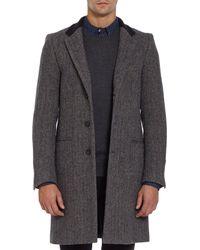 Basco | Gray Herringbone Chesterfield Coat for Men | Lyst