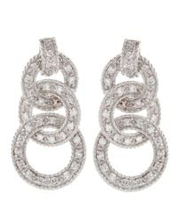 Charriol | Metallic Diamond Pave Threering Earrings | Lyst