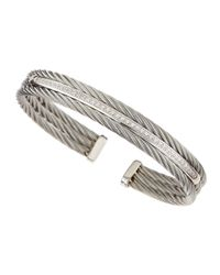 Charriol - White Diamondbar Cable Bangle - Lyst