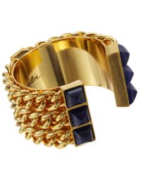 Fallon | Metallic Lapis Triple Pyramid Cuff | Lyst