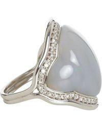 Fernando Jorge - Gray Fluid Diamonds Framed Grey Opal Ring - Lyst