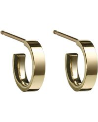 Finn - Metallic Gold Huggie Hoop Earrings - Lyst