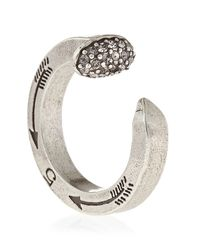 Giles & Brother | Metallic Pave Railroad Spike Ring | Lyst
