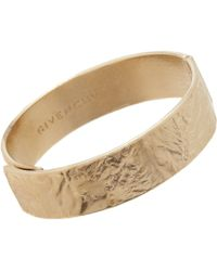 Givenchy - Metallic Pale Gold Thin Wrinkledtexture Cuff - Lyst