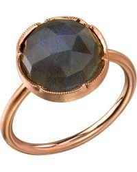 Irene Neuwirth | Metallic Labradorite & Rose Gold Ring | Lyst